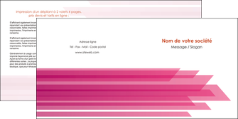 personnaliser modele de depliant 2 volets  4 pages  rose fond rose trait MLGI59669