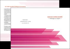 realiser depliant 2 volets  4 pages  rose fond rose trait MLGI59679