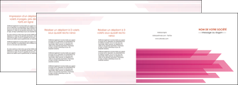 personnaliser modele de depliant 4 volets  8 pages  rose fond rose trait MLGI59683
