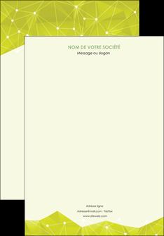 personnaliser maquette affiche graphisme vert fond vert colore MIF60039