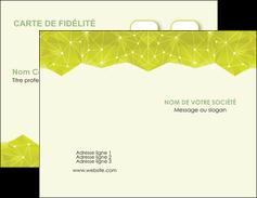 cree carte de visite graphisme vert fond vert colore MIF60043
