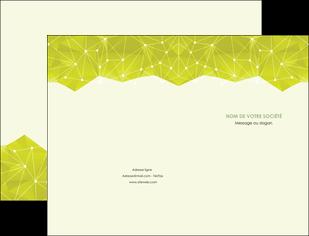 realiser pochette a rabat graphisme vert fond vert colore MLIGBE60045