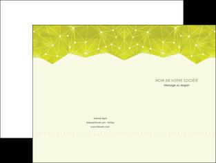 impression pochette a rabat graphisme vert fond vert colore MLIGBE60047
