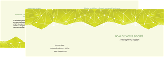 realiser depliant 2 volets  4 pages  graphisme vert fond vert colore MIF60049