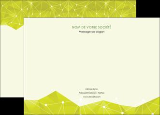 maquette en ligne a personnaliser affiche graphisme vert fond vert colore MIF60053