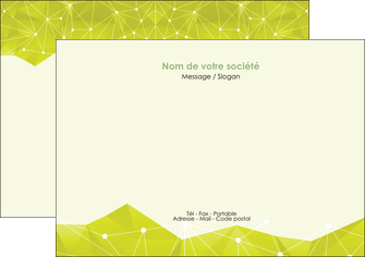 impression flyers graphisme vert fond vert colore MIF60057