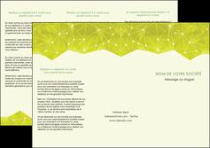 impression depliant 3 volets  6 pages  graphisme vert fond vert colore MIF60059