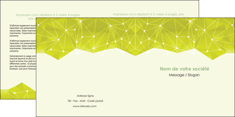 personnaliser modele de depliant 2 volets  4 pages  graphisme vert fond vert colore MIF60063