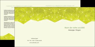 personnaliser modele de depliant 2 volets  4 pages  graphisme vert fond vert colore MLIGBE60063
