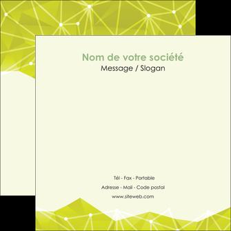 personnaliser modele de flyers graphisme vert fond vert colore MIF60065