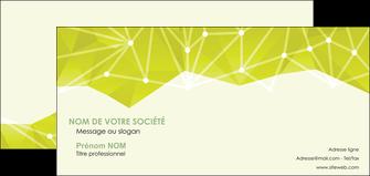 impression carte de correspondance graphisme vert fond vert colore MIF60071