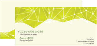 impression carte de correspondance graphisme vert fond vert colore MLIGBE60071