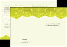 imprimerie depliant 2 volets  4 pages  graphisme vert fond vert colore MIF60073