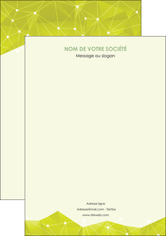 modele affiche graphisme vert fond vert colore MLGI60075