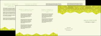personnaliser maquette depliant 4 volets  8 pages  graphisme vert fond vert colore MIF60077