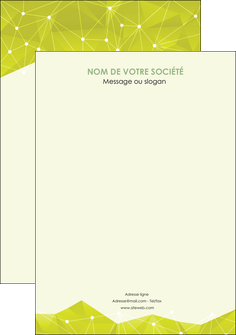 impression flyers graphisme vert fond vert colore MIF60079