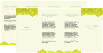 personnaliser maquette depliant 4 volets  8 pages  graphisme vert fond vert colore MLIGBE60081