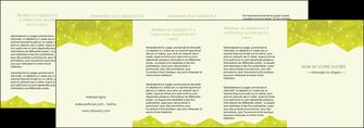 imprimer depliant 4 volets  8 pages  graphisme vert fond vert colore MIF60083