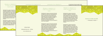 imprimer depliant 4 volets  8 pages  graphisme vert fond vert colore MLGI60083