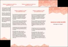 modele en ligne depliant 3 volets  6 pages  saumon fond saumon pastel tendre MLGI60485