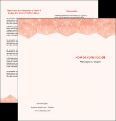 exemple depliant 2 volets  4 pages  saumon fond saumon pastel tendre MLGI60487