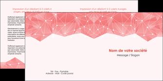 personnaliser modele de depliant 2 volets  4 pages  saumon fond saumon pastel tendre MLGI60489