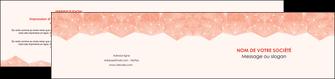 impression depliant 2 volets  4 pages  saumon fond saumon pastel tendre MLGI60495