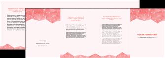 faire modele a imprimer depliant 4 volets  8 pages  saumon fond saumon pastel tendre MLGI60501
