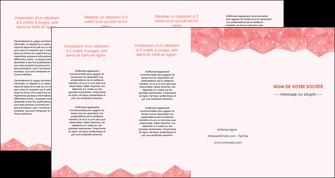 modele en ligne depliant 4 volets  8 pages  saumon fond saumon pastel tendre MLGI60505