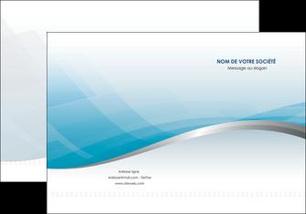 personnaliser modele de pochette a rabat bleu bleu pastel fond au bleu pastel MLGI60523