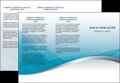 imprimerie depliant 3 volets  6 pages  bleu bleu pastel fond au bleu pastel MLGI60537