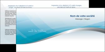 imprimerie depliant 2 volets  4 pages  bleu bleu pastel fond au bleu pastel MLGI60541