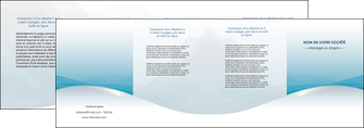 realiser depliant 4 volets  8 pages  bleu bleu pastel fond au bleu pastel MLGI60553