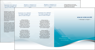 realiser depliant 4 volets  8 pages  bleu bleu pastel fond au bleu pastel MLGI60557