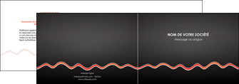 modele depliant 2 volets  4 pages  web design gris gris fonce mat MIF60899
