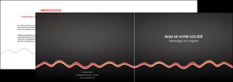 realiser depliant 2 volets  4 pages  web design gris gris fonce mat MIF60901