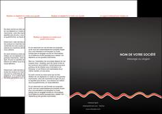 imprimerie depliant 3 volets  6 pages  web design gris gris fonce mat MIF60909