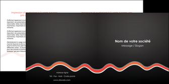 modele depliant 2 volets  4 pages  web design gris gris fonce mat MIF60913