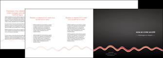 exemple depliant 4 volets  8 pages  web design gris gris fonce mat MIF60927