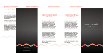 creer modele en ligne depliant 4 volets  8 pages  web design gris gris fonce mat MLGI60931