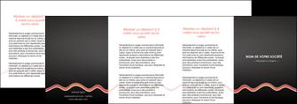 imprimer depliant 4 volets  8 pages  web design gris gris fonce mat MIF60933