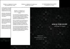 modele depliant 3 volets  6 pages  gris fond gris fonce MIF61429