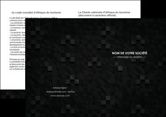 faire modele a imprimer depliant 2 volets  4 pages  gris fond gris fonce MIF61443