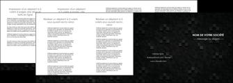 personnaliser maquette depliant 4 volets  8 pages  gris fond gris fonce MIF61447