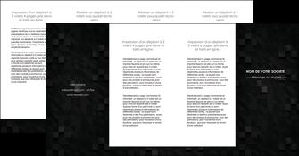 personnaliser maquette depliant 4 volets  8 pages  gris fond gris fonce MIF61451