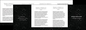 maquette en ligne a personnaliser depliant 4 volets  8 pages  gris fond gris fonce MIF61453