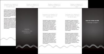 creer modele en ligne depliant 4 volets  8 pages  gris fond gris courbes MLIG61503