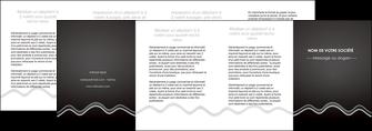 creer modele en ligne depliant 4 volets  8 pages  gris fond gris courbes MLIG61505