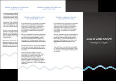 creer modele en ligne depliant 3 volets  6 pages  fond gris fonce antique MIF61745