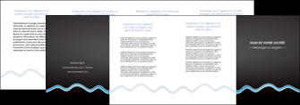 creation graphique en ligne depliant 4 volets  8 pages  fond gris fonce antique MLIG61761